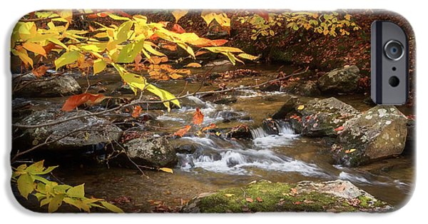 Kent Connecticut iPhone Cases - Autumn Stream Square iPhone Case by Bill  Wakeley