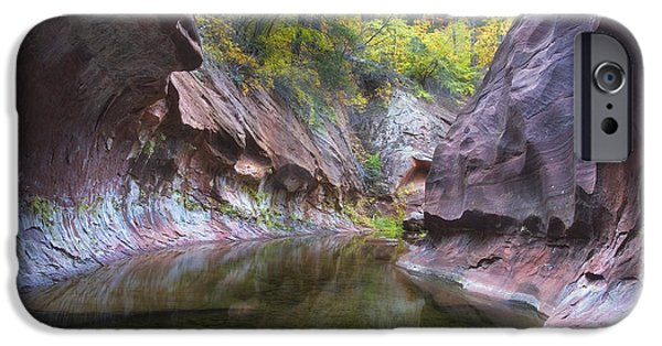 West Fork iPhone Cases - Autumn Subway iPhone Case by Peter Coskun