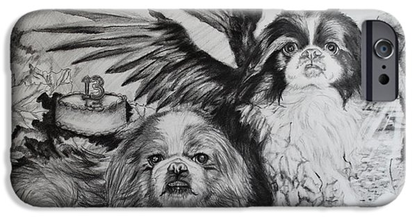 Japanese Chin iPhone Cases - Autumn Takes iPhone Case by Thomas J Nixon