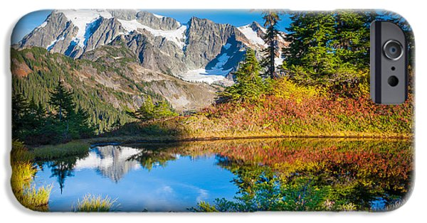 Drama iPhone Cases - Autumn Tarn iPhone Case by Inge Johnsson