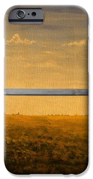 Field. Cloud Mixed Media iPhone Cases - Autumn Through The Window iPhone Case by Dan Sproul