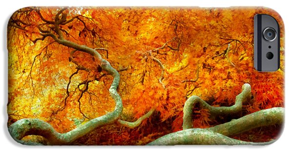 Abstract Digital iPhone Cases - Autumn - Tree - Serpentine iPhone Case by Mike Savad