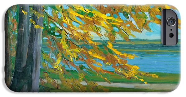 Concept Paintings iPhone Cases - Autumn iPhone Case by Trubner