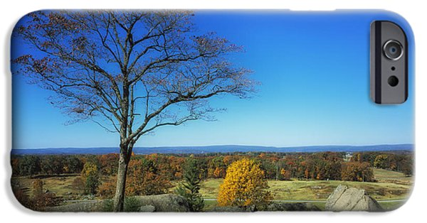 Battlefield Site iPhone Cases - Autumn View on Little Round Top - Gettysburg iPhone Case by Mountain Dreams