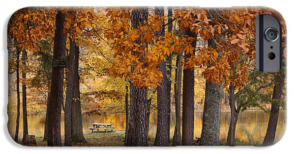 Indiana Autumn iPhone Cases - Autumn View iPhone Case by Sandy Keeton