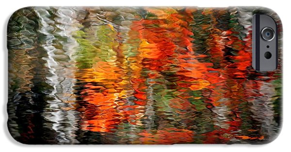 Destiny Photographs iPhone Cases - Autumn Water Colors iPhone Case by Frozen in Time Fine Art Photography
