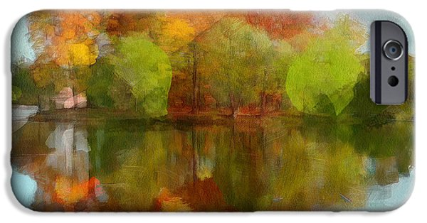 Fantastic Gifts iPhone Cases - Autumn Water Reflection iPhone Case by Yury Malkov