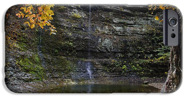 Arkansas iPhone Cases - Autumn Waterfall iPhone Case by Brandon Alms
