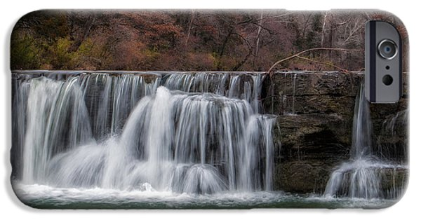 Arkansas iPhone Cases - Autumn Waterfall iPhone Case by James Barber