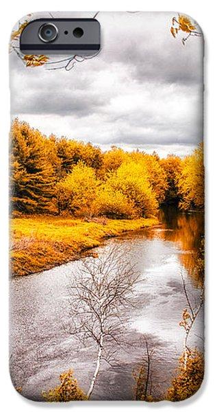 Autumn White Mountains Maine iPhone Case by Bob Orsillo