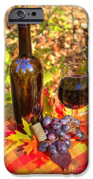 Vino Photographs iPhone Cases - Autumn Wine iPhone Case by Jimmy Ostgard