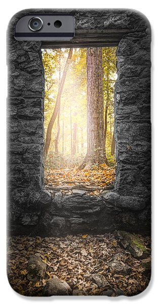 Colors Of Autumn iPhone Cases - Autumn within Long Pond Ironworks - Historical Ruins iPhone Case by Gary Heller