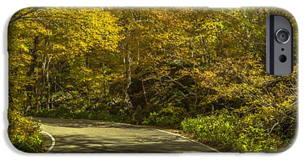 Mountain Road iPhone Cases - Autumnal Road iPhone Case by Chris Fletcher