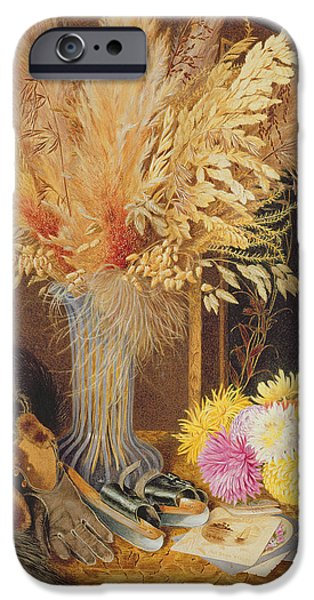 Basket iPhone Cases - Autumnal Still Life iPhone Case by Marian Emma Chase