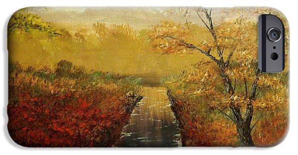 Oak Creek iPhone Cases - Autumns Approach iPhone Case by Jack Lepper