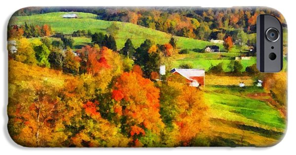 The Hills Mixed Media iPhone Cases - Autumns Glory Enters The Ohio Valley iPhone Case by Dan Sproul
