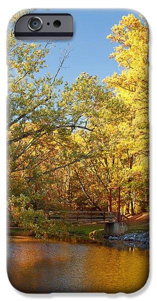 Autumn's Golden Pond iPhone Case by Kim Hojnacki
