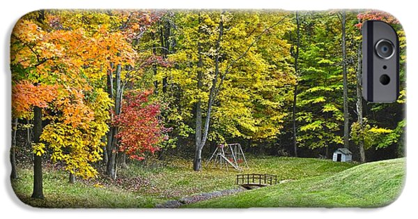 Doghouse iPhone Cases - Autumns Playground iPhone Case by Frozen in Time Fine Art Photography