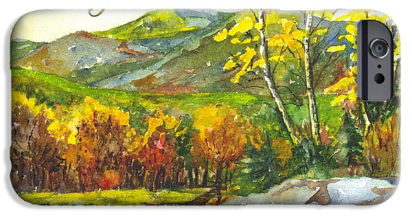 Autumn Scenes Drawings iPhone Cases - Autumns Showpiece Thank You iPhone Case by Carol Wisniewski