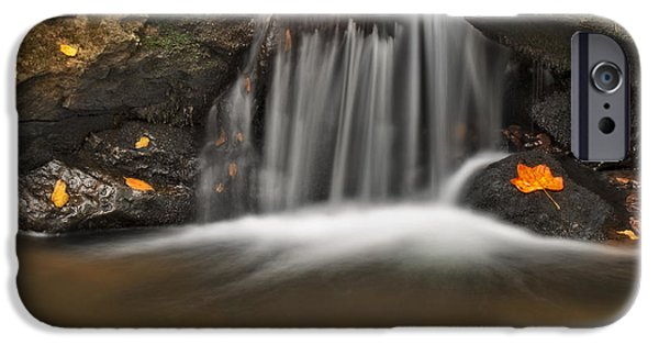 Fall iPhone Cases - Autumns Stream iPhone Case by Susan Candelario