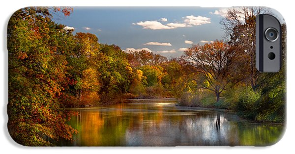 Dream Scape iPhone Cases - Autumn - Hillsborough NJ - Painted by nature iPhone Case by Mike Savad