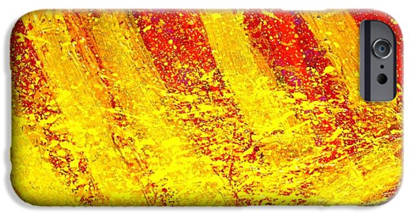 Stripes iPhone Cases - Auvers Sur Oise iPhone Case by John  Nolan