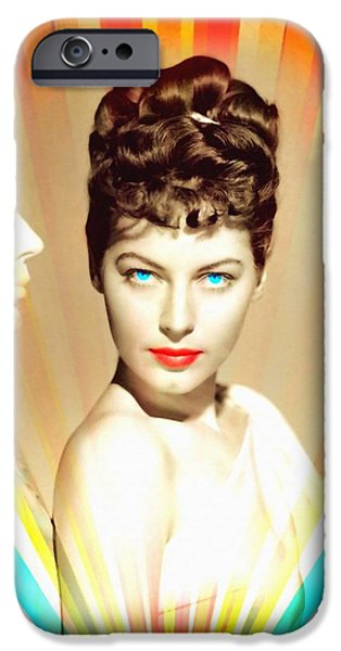 Statue Portrait Mixed Media iPhone Cases - Ava Gardner in One Touch of Venus iPhone Case by Art Cinema Gallery