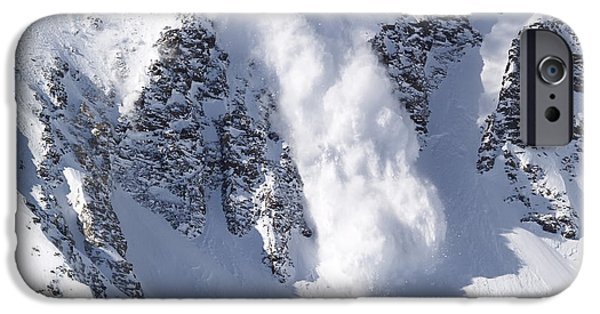 Bill Gallagher iPhone Cases - Avalanche I iPhone Case by Bill Gallagher