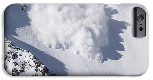 Bill Gallagher Photographs iPhone Cases - Avalanche III iPhone Case by Bill Gallagher