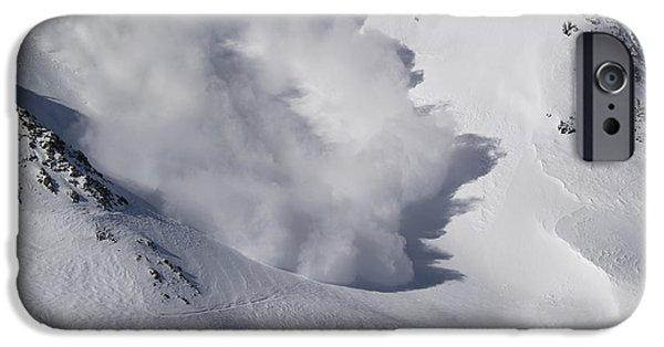 Bill Gallagher Photographs iPhone Cases - Avalanche IV iPhone Case by Bill Gallagher