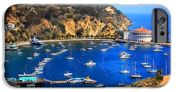 Kayak iPhone Cases - Avalon Harbor iPhone Case by Cheryl Young