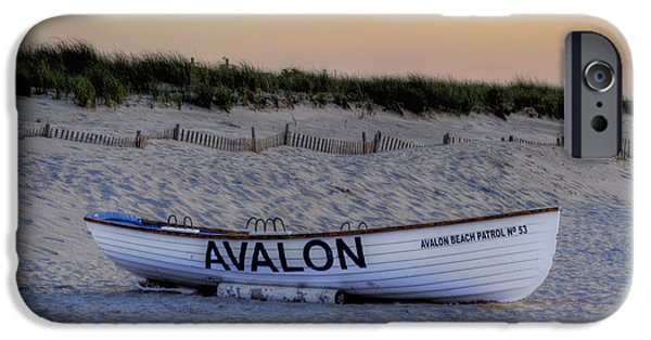 Sanddunes iPhone Cases - Avalon Lifeboat iPhone Case by Bill Cannon