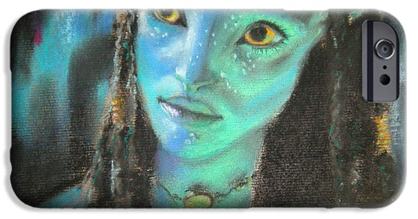Science Fiction Pastels iPhone Cases - Avatar iPhone Case by Lori Ippolito