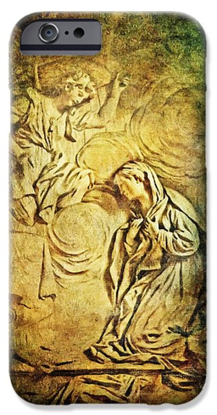 Ave Maria...Gratia Plena iPhone Case by Lianne Schneider