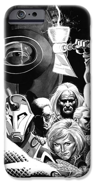 Avengers Ultimates iPhone Case by Ken Branch