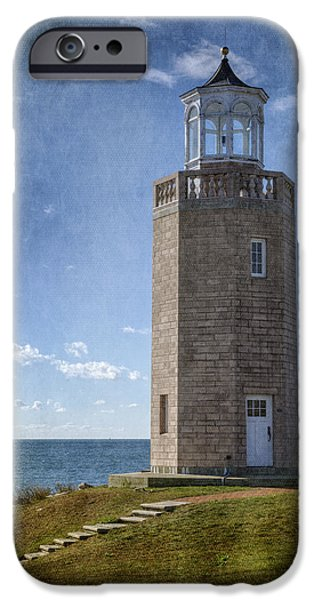 New England Lighthouse iPhone Cases - Avery Point Lighthouse iPhone Case by Joan Carroll