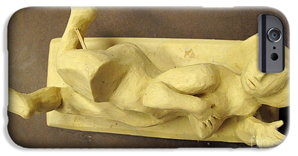 Model Sculptures iPhone Cases - AVICAR NUDE before Urethane Molding iPhone Case by Charlie Spear