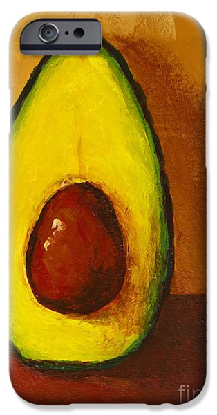 Interior Still Life Paintings iPhone Cases - Avocado Palta VII iPhone Case by Patricia Awapara