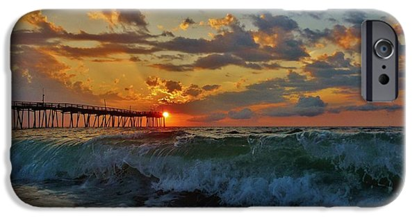 Pamlico Sound iPhone Cases - Mother Natures Awakening  3 7/26 iPhone Case by Mark Lemmon