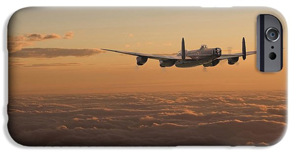 Raf iPhone Cases - Avro Lancaster - Homeward iPhone Case by Pat Speirs