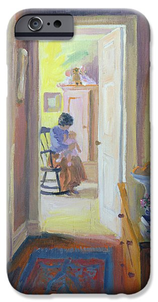Rocking Chairs Photographs iPhone Cases - Awake Oil On Board iPhone Case by William Ireland