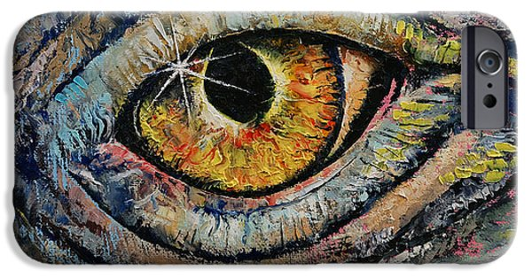 Michael Paintings iPhone Cases - Awakened Dragon iPhone Case by Michael Creese