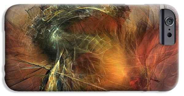 Abstract Expressionism Digital iPhone Cases - Awakening-Abstract Art iPhone Case by Karin Kuhlmann