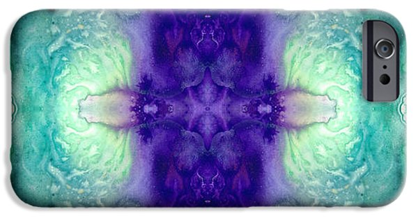 Patterns Paintings iPhone Cases - Awakening Spirit - Pattern Art By Sharon Cummings iPhone Case by Sharon Cummings
