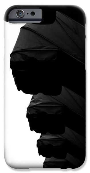 Buildings Mixed Media iPhone Cases - Awnings In Black iPhone Case by Toppart Sweden