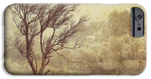 Epic Amazing Colors Landscape Digital Modern Still Life Trees Warm Natural Earth Organic Paint Photo Chic Decor Interior Design Brett Pfister Art Digital Art Iphone Cases Digital Art iPhone Cases - Axiom iPhone Case by Brett Pfister