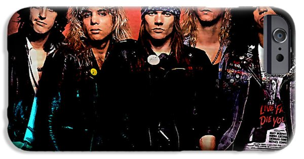 Axl Rose iPhone Cases - Axl Rose Guns N Roses iPhone Case by Marvin Blaine