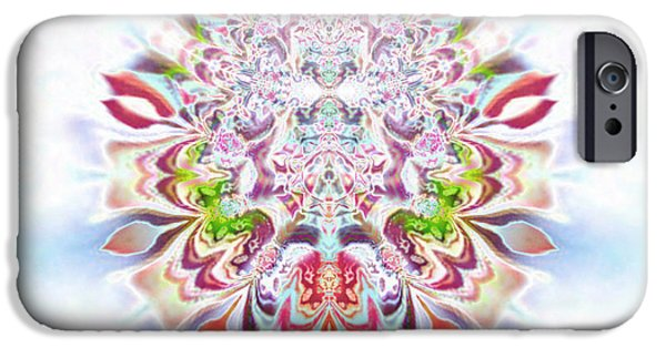 Seraphim Angel Digital Art iPhone Cases - Aya Zlameh iPhone Case by Aeres Vistaas