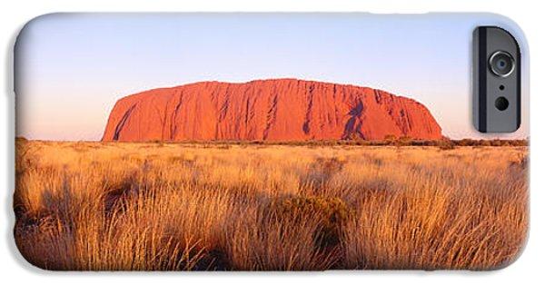 Monolith iPhone Cases - Ayers Rock, Uluru-kata Tjuta National iPhone Case by Panoramic Images