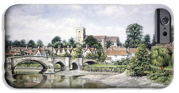 Pathway Pastels iPhone Cases - Aylesford Bridge iPhone Case by Rosemary Colyer